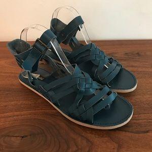 Geé WaWa Teal Huarache Sandals